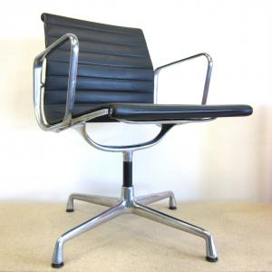 Vitra EA108 Alu Chair Leather Blue Interior Aksel Aachen London