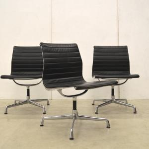 Vitra EA105 106 Alu Chair Leather Charles Eames Interior Aksel Designklassiker