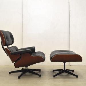 Vitra Eames Lounge Chair Cherry Wood Interior Aksel Aachen Worldwide Transport
