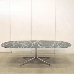 Rare Florence Knoll Green Marble Dining Table Interior Aksel Aachen Design Paris London NY