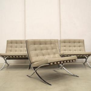 Knoll Barcelona Chair Natur Beige Edition Mies van der Rohe Interior Aksel Aachen Design chairs furniture
