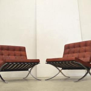Barcelona Chair Mies van der Rohe Knoll Interior Aksel Buy Vintage Worldwide Delivery