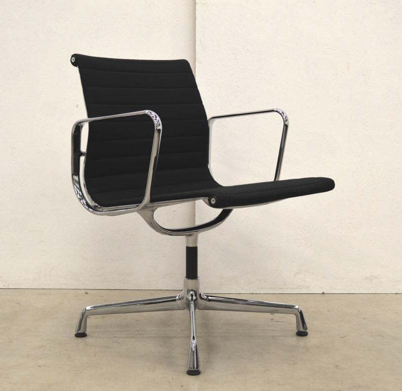 Vitra EA108 Alu Chair Black Hopsak Eames Interior Aksel Aachen Design Chairs Furniture London Paris