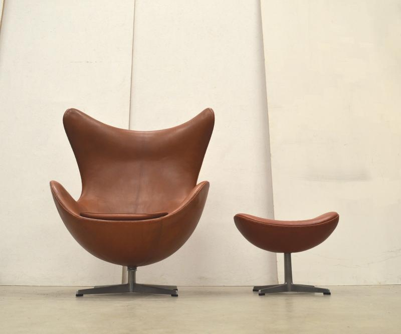 Early Cognac Egg Chair Arne Jacobsen Fritz Hansen 60s Interior Aksel Aachen Collector Design Paris London